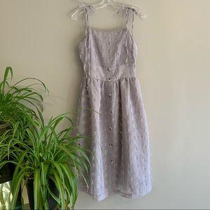 Chicwish Cotton Candy Gray Dress Small French Chic